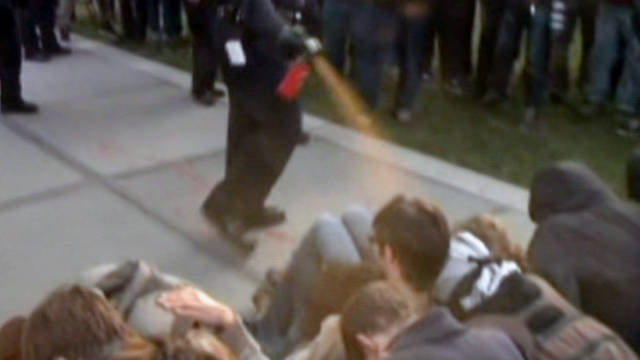 Video of Lt. John Pike spraying students at close range in November 2011 went viral on the Internet.