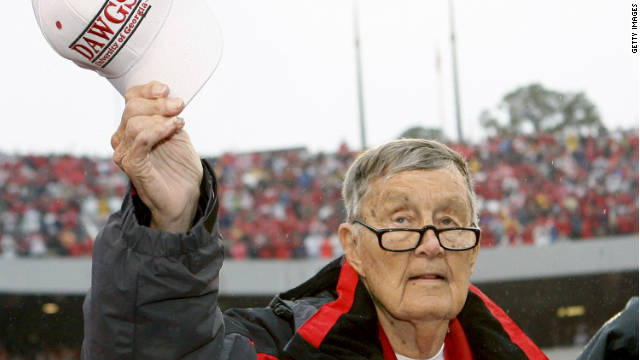 Larry Munson announced the University of Georgia football games for 42 years.