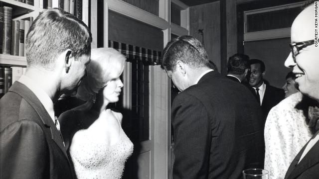 This rare shot of Robert F. Kennedy, Marilyn Monroe and president John F. Kennedy together is one of Morgan's finds.