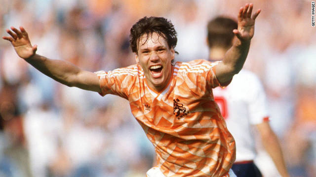 Marco van Basten's career was cut short early through injury, but not before he had made his mark on world football with one of the greatest goals of all time. Van Basten had already scored a hat-trick against England in a group game, and the winner against hosts West Germany in the semis. The Dutch were strongly fancied to beat Russia in the final, which they duly did, with the help of a Van Basten volley that will never be forgotten.