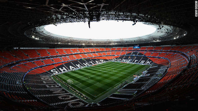 The Donbass Arena in Donetsk is home to Ukrainian champions and 2009 UEFA Cup winners Shakhtar Donetsk. Opened in August 2009, the stadium will host a semifinal, quarterfinal and Group D matches.