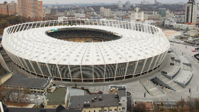 The stadiums of Euro 2012