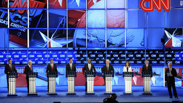 Eight major GOP presidential candidates met in Washington on Tuesday for the CNN National Security Debate.