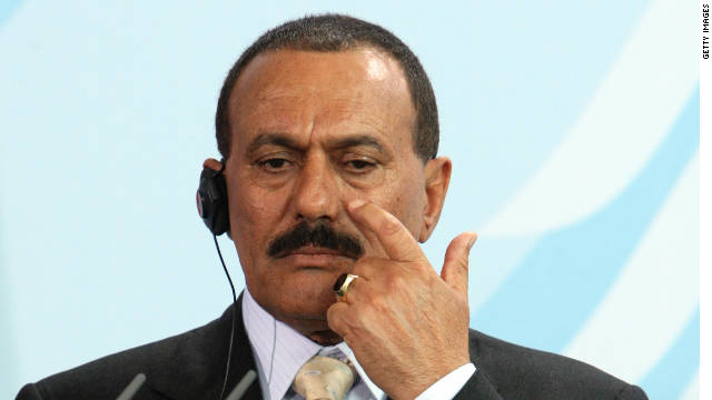 President Ali Abdullah Saleh said the transfer of power should be