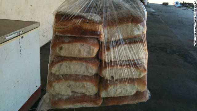 Fresh bin Laden bread from the Portuguese Bakery in Blantyre, Malawi.