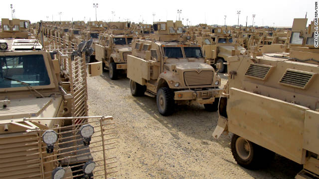 Since mid-October, troops have been rolling almost every day into Camp Virginia. President Barack Obama announced last month that he would pull almost all troops from Iraq by year's end.