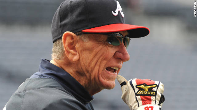 Bobby Dews has been coaching with the Atlanta Braves for 37 years