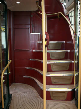 The deep-red colours are also similar to the old London Routemaster colour scheme.