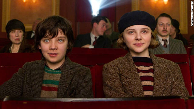 Hugo (Asa Butterfield) and his friend Isabelle (Chloe Moretz) work together to repair his father's automaton.