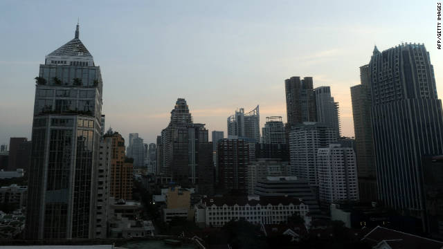 Another side of Thailand. Bangkok's bustling business district is one of the main drivers of Southeast Asia's second biggest economy.