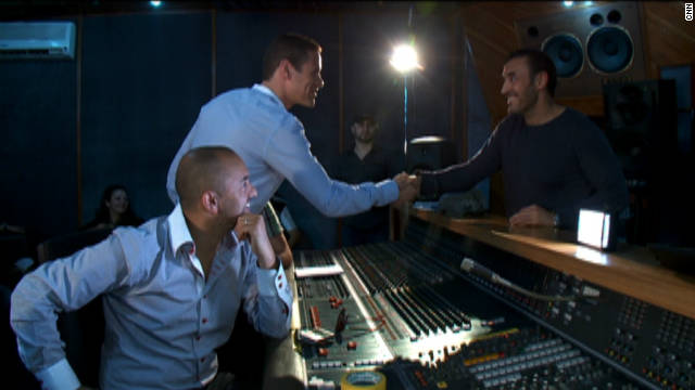 Grammy Award-winning Moroccan-born producer RedOne, executive producer Badr Jafar, and Iraqi musician Kadim Al Sahir, a passionate advocate of music for charity since the 90s, composed the Arabic melodies for the song.