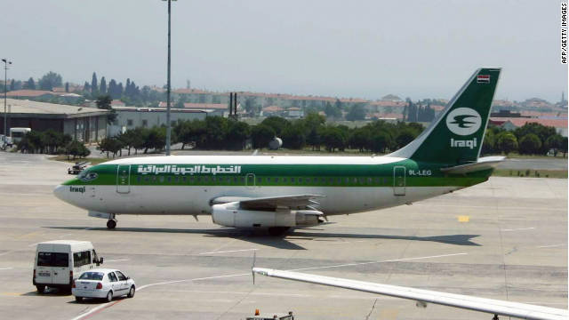 File picture dated 03 August 2005 shows an Iraqi Airlines Boeing 737 type plane at the tarmac of the Ataturk Airport in Istanbul.