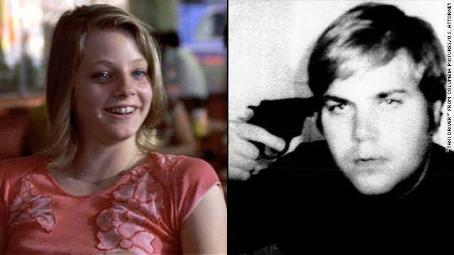 "Before he shot President Reagan in 1981, John Hinckley Jr. became obsessed with actress Jodie Foster after seeing her film ""Taxi Driver"" at least 15 times. Defense psychiatrists said Hinckley played Russian roulette and took this photo of himself."