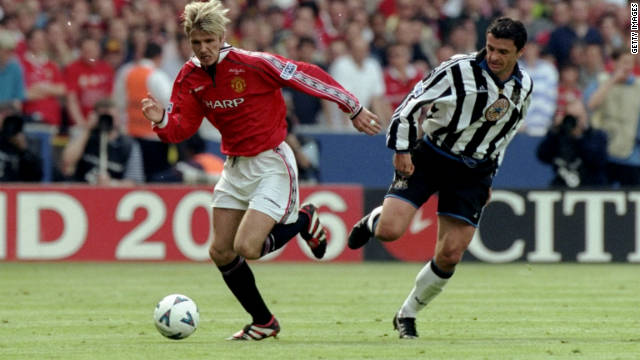 Speed played in two FA Cup finals for Newcastle, against Arsenal in 1998 and Manchester United in 1999, losing both.