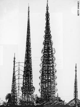 The Watts Towers were built between the 1920s and 50s and are a much-loved example of so-called &quot;vernacular&quot; or folk art. 