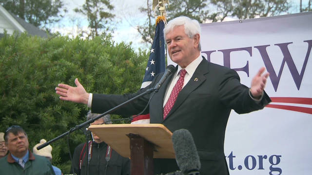 Newt Gingrich said immigrants who have lived exemplary lives in the U.S. for many years should be shielded.