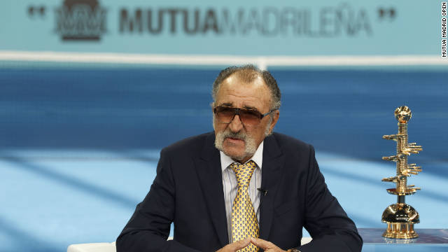 Madrid's blue clay is the brainchild of tournament consultant Ion Tiriac. He says the surface enhances the viewing experience for those in the stadium and watching on television.