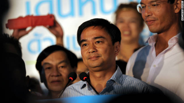 Thai authorities have charged former Thai prime minister Abhisit Vejjajiva and his former deputy with murder.
