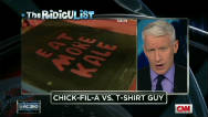 The RidicuList: Chick-fil-A vs. T-shirt Guy
