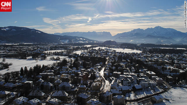 "Kevin Brooks captured this striking panorama of Salzburg. ""Climate change has settled in on the region and the magnificent winter season is having a progressively shorter span,"" he says. He adds: ""The winter period is most beautiful in the town center where a winter carnival takes place each year."""