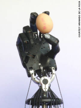 "The ""Shadow Dexterous Hand"" is the work of the Shadow Robot Company. It says the mechanized hand can mimic all the movements of a human hand and can be fitted to various robots."