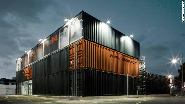 "A monolith of stacked shipping containers in South Koreas's ""Kunsthalle Gwanju"" has become a popular hub for exhibitions, concerts, workshops and other cultural events."
