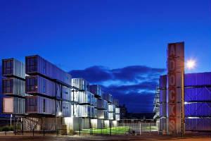 Dormitorios en el campus de Le Havre en Francia