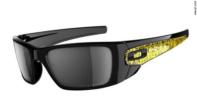 These special-edition <a href='http://www.oakley.com/products/6528?promotion_id=6&cm_mmc=google-semsearch-_-Brand-Products-Men-Sunglasses-_-Fuel-Cell-Livestrong-_-oakley%20livestrong%20fuel%20cell%20sunglasses' target='_blank'>Oakley sunglasses </a>not only block all UVA, UVB and UVC rays, $20 from each purchase goes to the Lance Armstrong Foundation, a nonprofit organization that supports those affected by cancer.