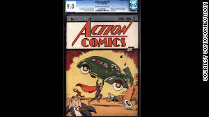 A near-pristine copy of Action Comics #1 sold at an online auction Wednesday for $2.16 million.