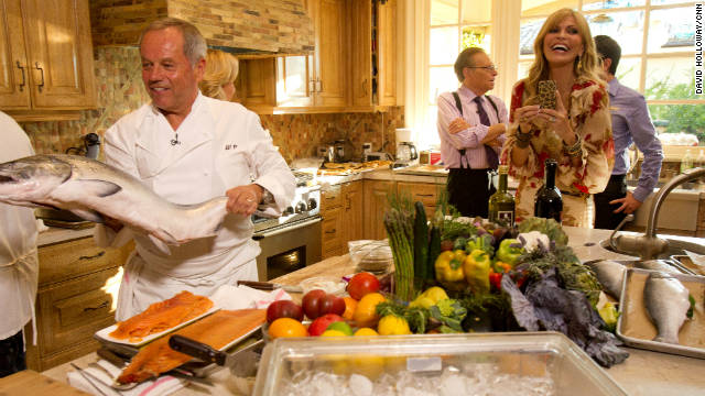 Wolfgang Puck and Shaquille O&#039;Neal dish on dinner chez Larry King, and what Russell Brand swiped from the bedroom