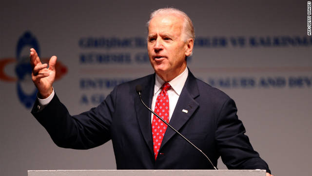 Vice President Joe Biden speaks at the Global Entrepreneurship Summit in Istanbul, Turkey.