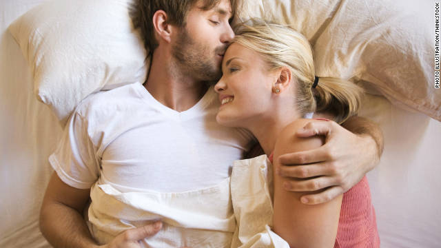 Husbands want to cuddle with their wives, especially when