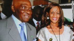 Sophia Bekele, executive director of DotConnectAfrica, alongside Senegal President Abdoulaye Wade at an ICANN conference in Dakar last month