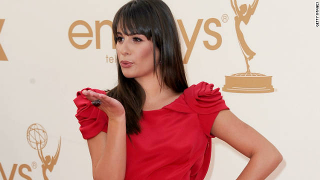 Who will Lea Michele kiss on New Year's Eve?