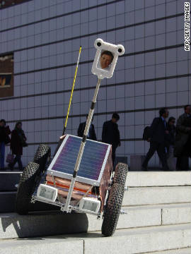 The &quot;Afghan Explorer&quot; is a solar-powered mobile robot developed by the Massachusetts Institute of Technology. The device was designed to practice elements of journalistic reporting in hostile or off-limits environments at the beginning of the Afghan war. Despite a flurry of newspaper coverage when it was first revealed, few editors have sent cyborg reporters to cover the world's conflict hot spots. 