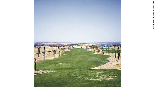 A golf course for residents of the SODIC built compound 'Westown' is proving hard to keep alive, even before any residents have moved in to the compound.