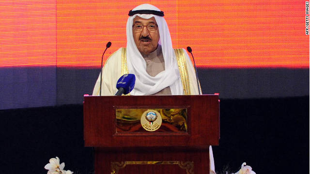 Kuwait's emir Sheikh Sabah Al-Ahmad Al-Jaber Al-Sabah, pictured in November, has dissolved the country's national assembly.