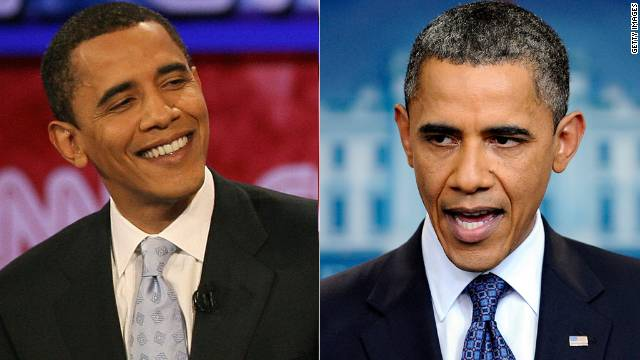 When President Barack Obama celebrated his 50th birthday, the media discussed his gray hair at length.