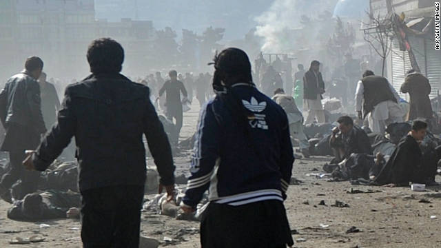 Terrorist attacks in Kabul and Mazar-e Sharif on Tuesday killed dozens of people.