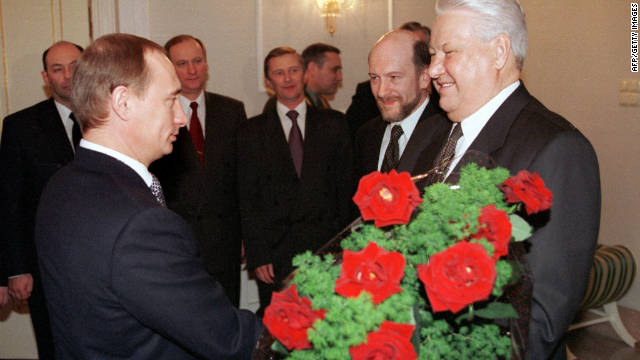 He rose quickly through the political ranks. March 2000 he took over from Boris Yeltsin (right) as the second democratically elected president of the Russian Federation.