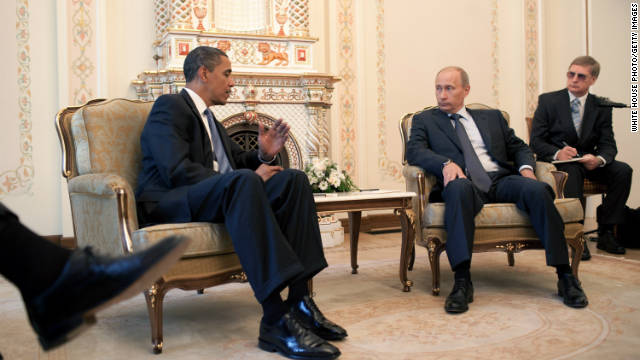 Prime Minister Putin has his first meeting with U.S. President Barack Obama