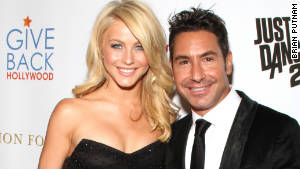 Give Back Hollywood founder Todd Krim with dancer Julianne Hough at a recent charity benefit.