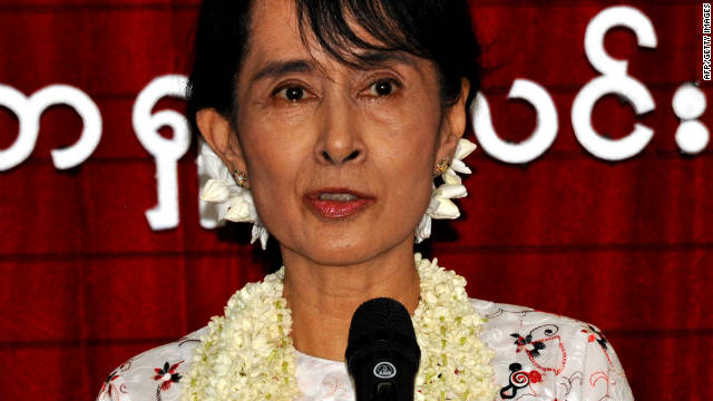 Myanmar democracy icon - now candidate - Aung San Suu Kyi was awarded the prize while under house arrest.
