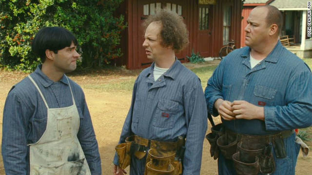 Chris Diamantopoulos (left), Sean Hayes (center) and Will Sasso star in 