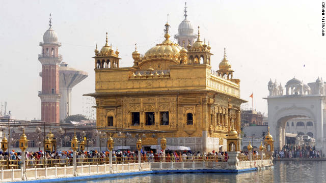 The Golden Temple in Amritsar, India, is the sacred sanctuary of the Sikhs.