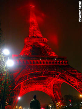 Ginger's proposal to drape the tower in plants wouldn't be the first time it has taken on a new look. In 2004 the tower was bathed in red light to mark the Chinese New Year.