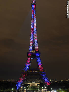 The tower transformed into a spectacular beacon of red white and blue in October 2009, celebrating its 120th anniversary year. 