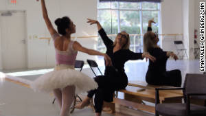 Olga Kostritzky coaches Carolina Ballet principal dancer Margaret Severin-Hansen for her role as sugar plum fairy in the Nutcracker.