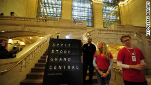 Apple hosted reporters on Wednesday for a tour of its Grand Central Apple Store, which opens on Friday.
