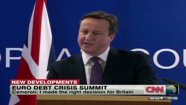 Líderes de la eurozona logran acuerdo sobre la crisis económica, sin Gran Bretaña
